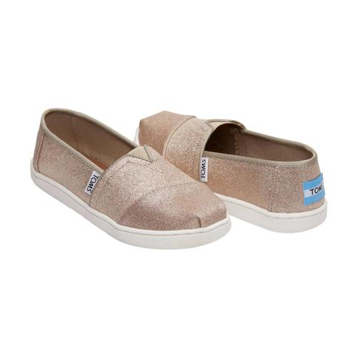 TOMS Kids Rose Gold Glimmer Youth Alpargatas