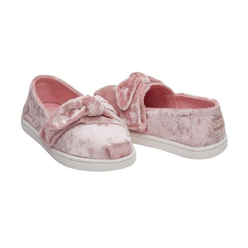 TOMS Kids Light Faded Rose Velvet Tiny Alpargatas
