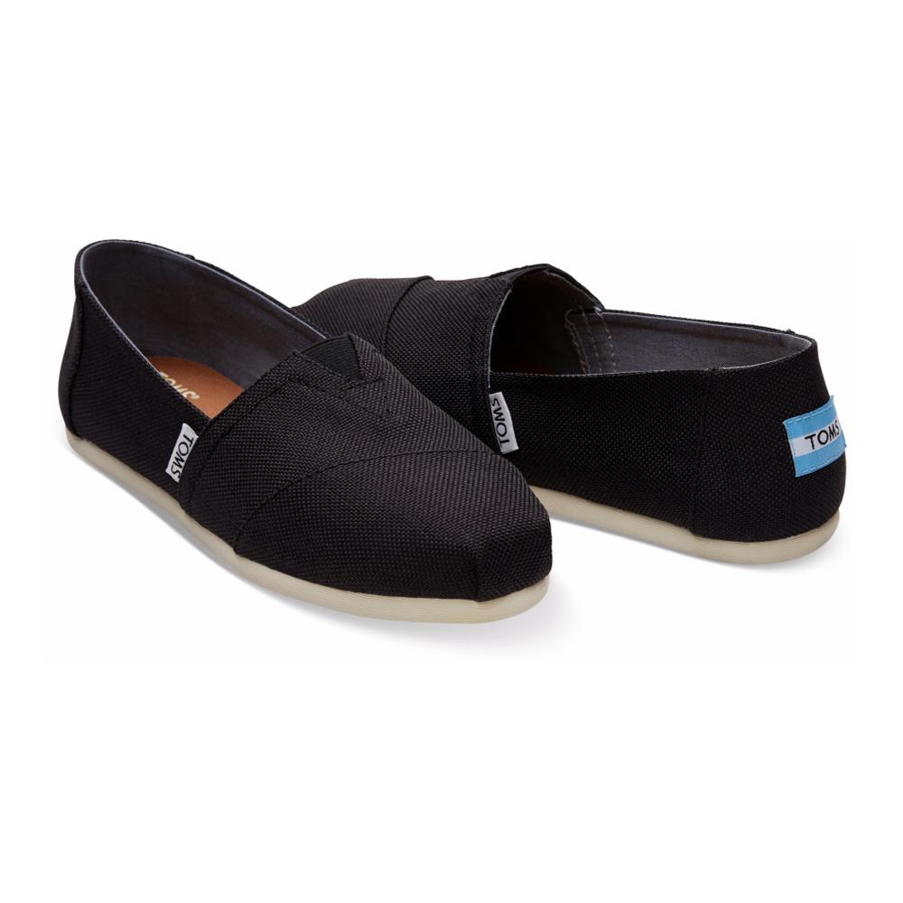 Tom's Women's Poly Canvas Classic Alpargatas BLACK