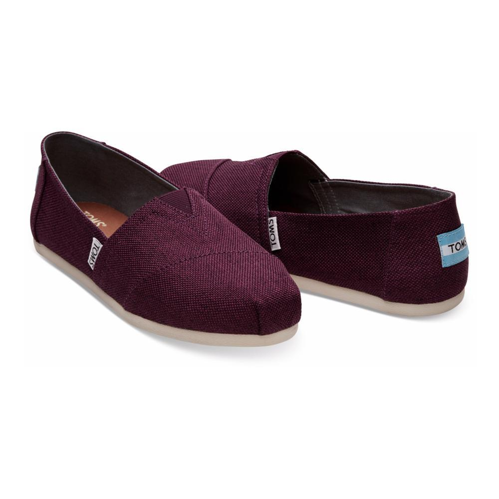 Tom's Women's Poly Canvas Classic Alpargatas BLKCHERRY