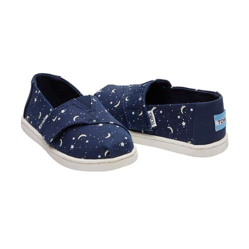 TOMS Kids Glow In The Dark Moon And Stars Tiny Alpargatas