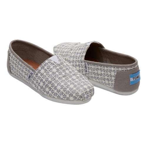 TOMS Youth Siver Lace Glimmer Alpargatas