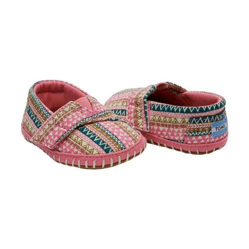 TOMS Infant Bubblegum Pink Geo Tiny Crib Alpargatas