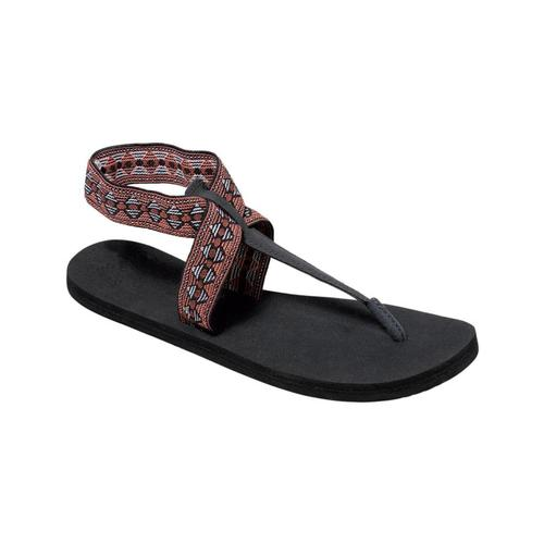 Reef Women's Cushion Moon Print Sandals BLACK