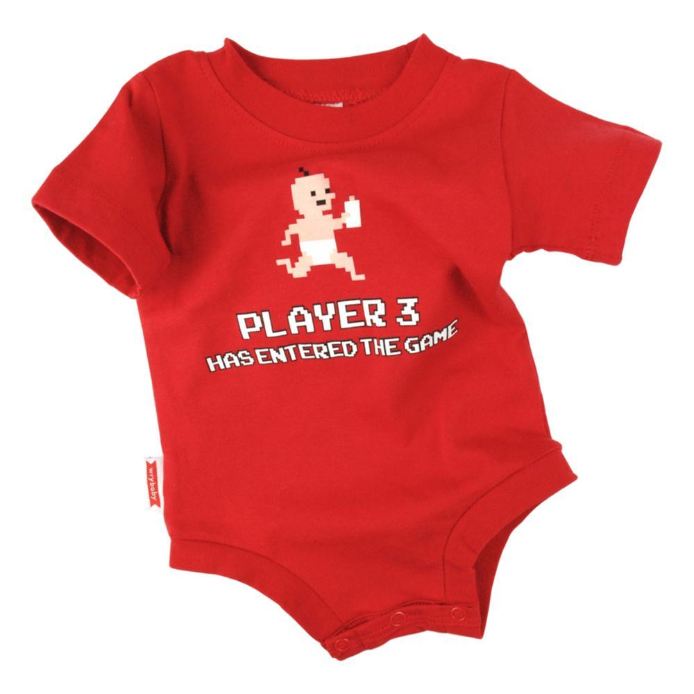 Wry Baby Infant Player 3 Onesie RED