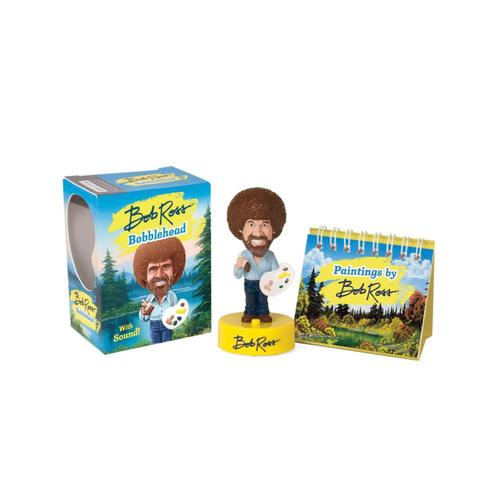 Bob Ross Talking Bobblehead .