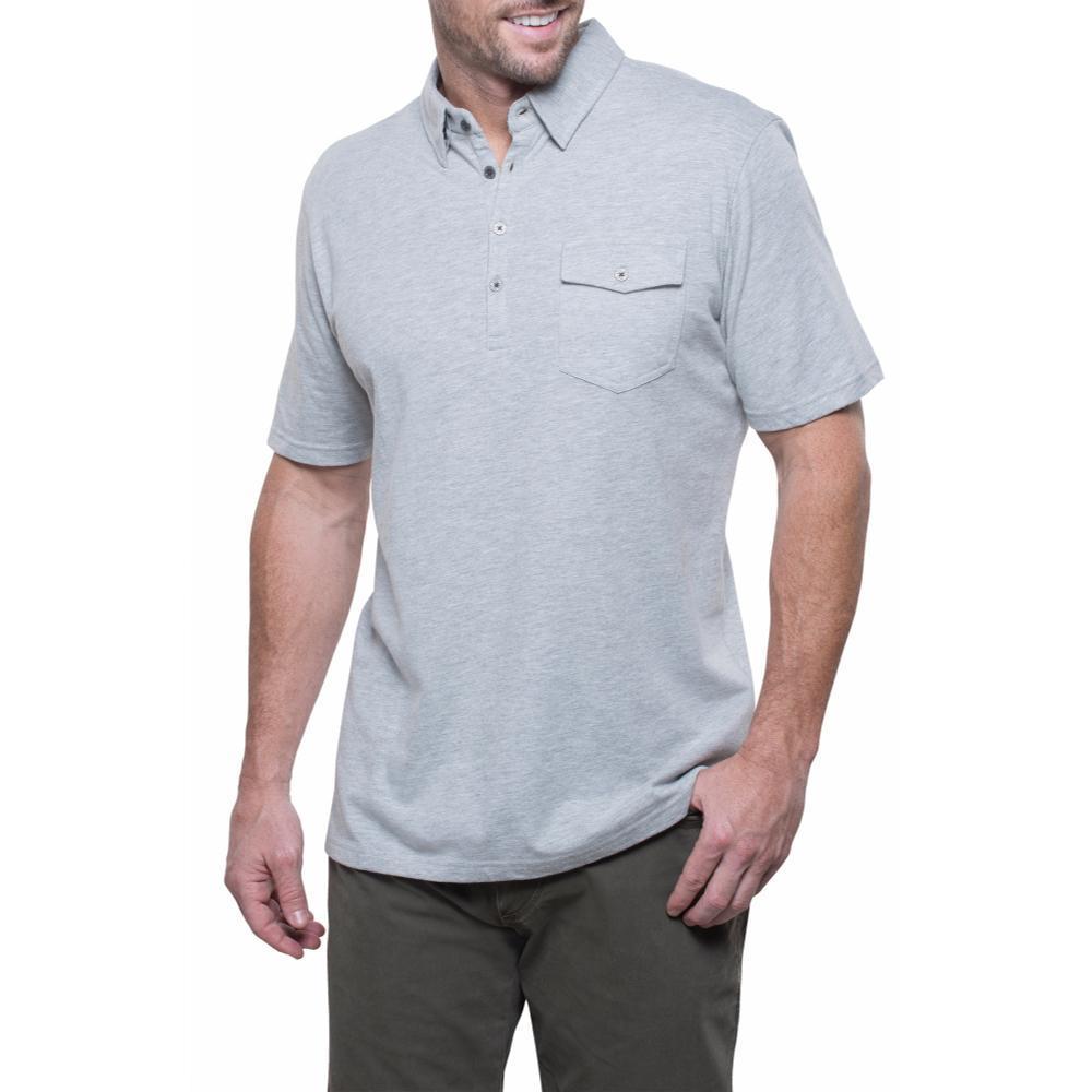 Kuhl Men's Stir Polo Shirt HTHRGREY