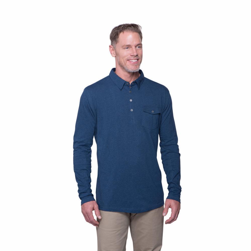 Kuhl Men's Stir LS Polo Shirt SHADBLUE