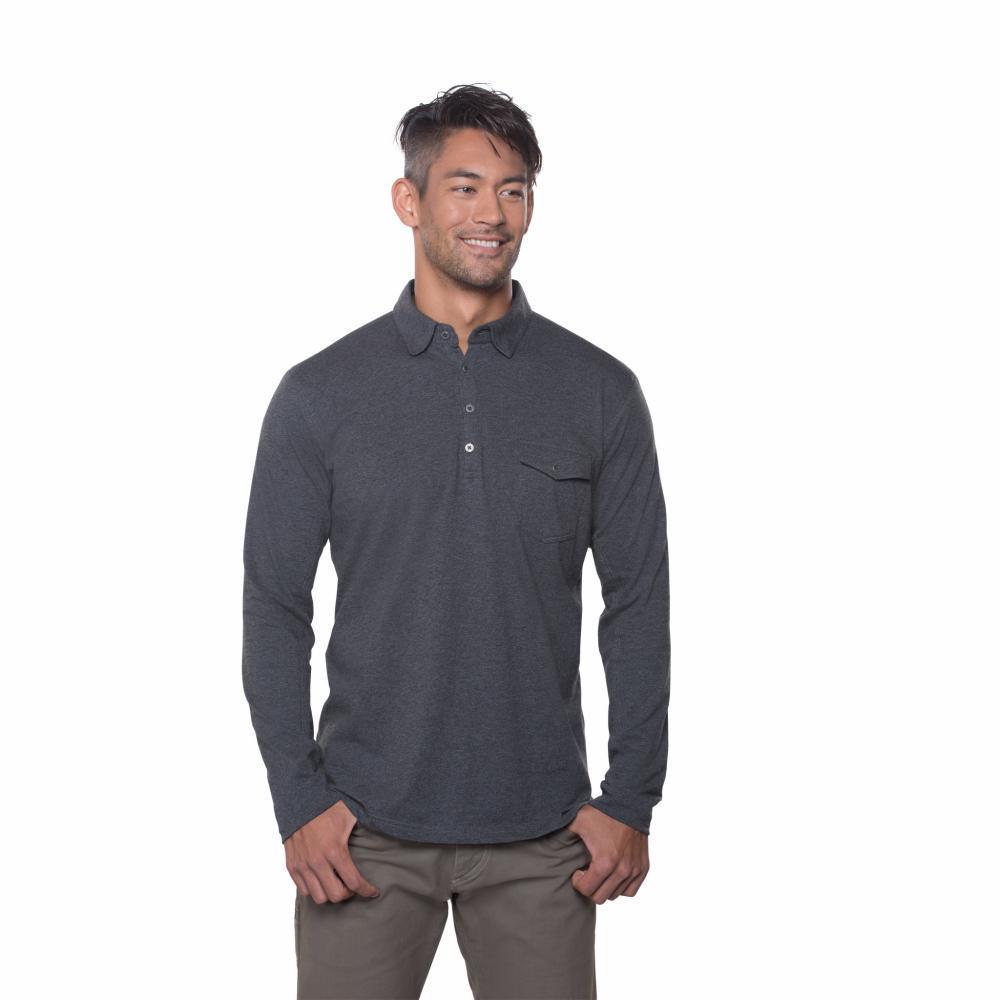 Kuhl Men's Stir LS Polo Shirt SMOKE