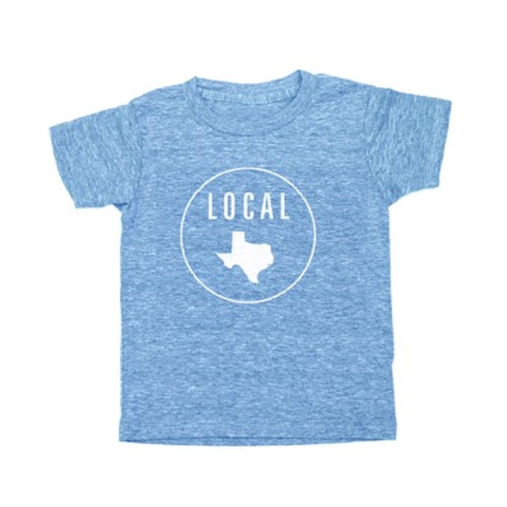 Locally Grown Kids Texas Local Tee HTHRBLUE