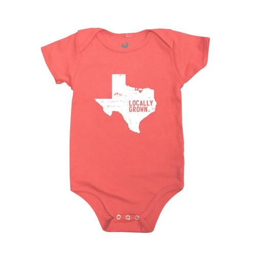 Locally Grown Infant Texas Solid State Onesie Swtred