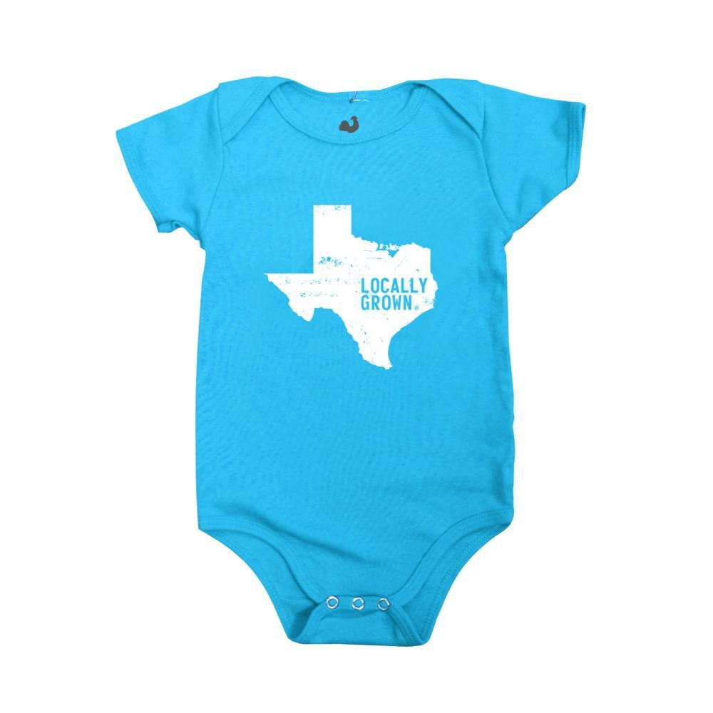 Locally Grown Infant Texas Solid State Onesie ELECBLUE