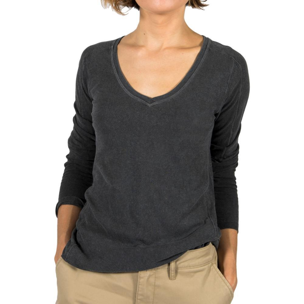 Gramicci Women's Delia V-Neck Long Sleeve Shirt GRAVEL