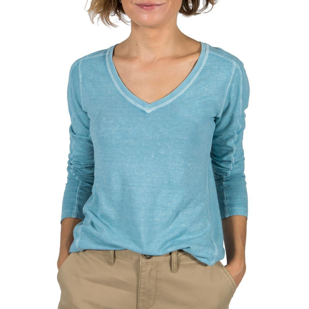 Gramicci Women's Delia V-Neck Long Sleeve Shirt STERLING