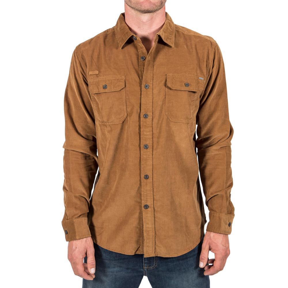 Gramicci Mens' Knock On My Cord Solid Shirt CARATAN