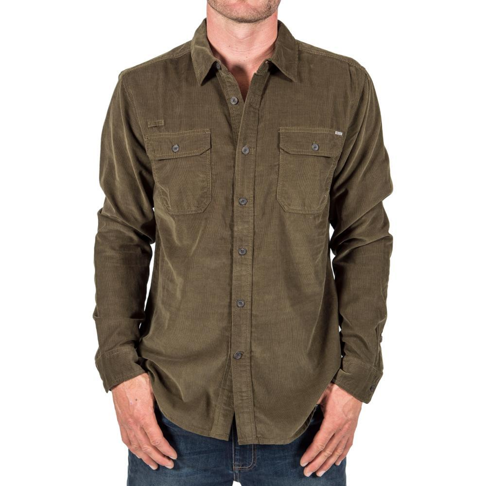 Gramicci Mens' Knock On My Cord Solid Shirt OLIVESTONE