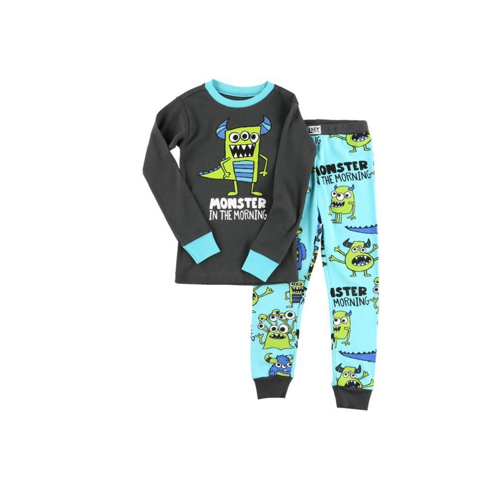 Lazy One Kids Monster Morning Long Sleeve PJ Set BLUE