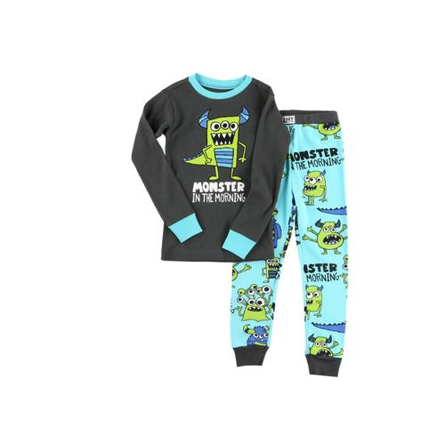 Lazy One Kids Monster Morning Long Sleeve PJ Set