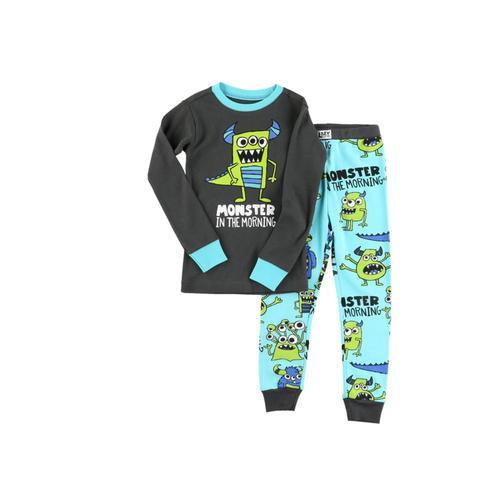Lazy One Kids Monster Morning Long Sleeve PJ Set