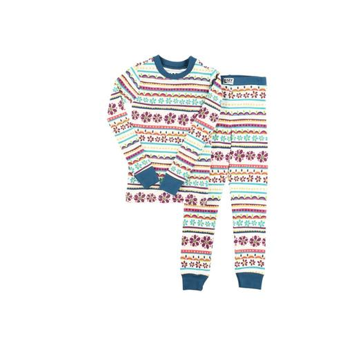 Lazy One Kids Flower Power Long Sleeve PJ Set Multi