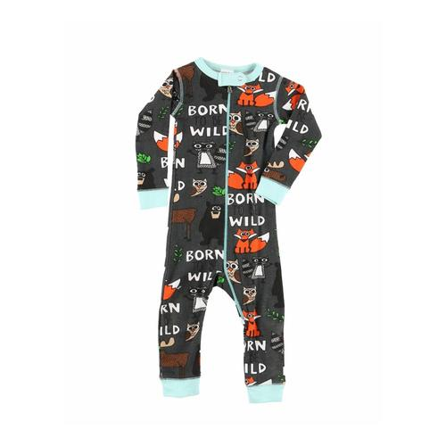 Lazy One Infant Born To Be Wild Long Sleeve Onesie