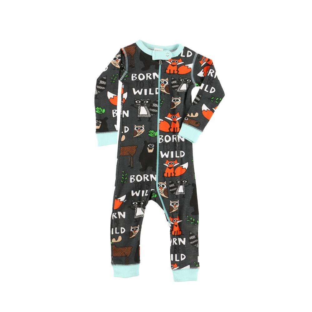 Lazy One Infant Born To Be Wild Long Sleeve Onesie MULTI