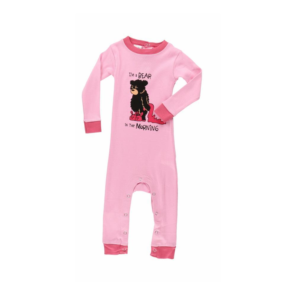 Lazy One Infant Bear In The Morning Long Sleeve Onesie PINK