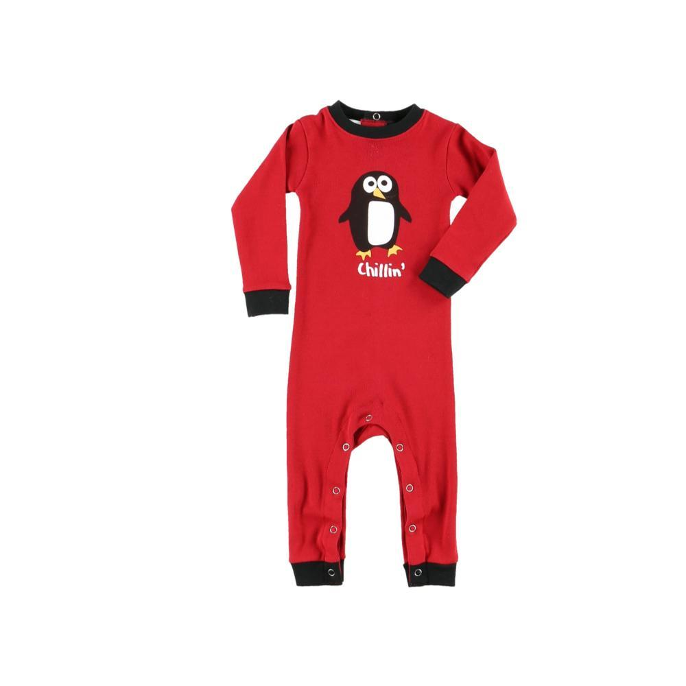 Lazy One Infant Chillin Long Sleeve Onesie RED