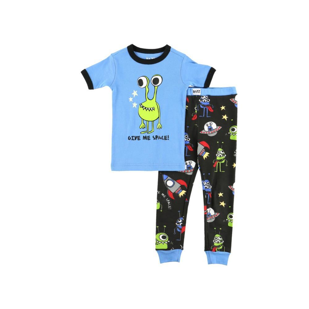 Lazy One Kids Give Me Space Short Sleeve PJ Set BLUE