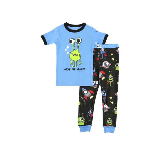 Lazy One Kids Give Me Space Short Sleeve PJ Set