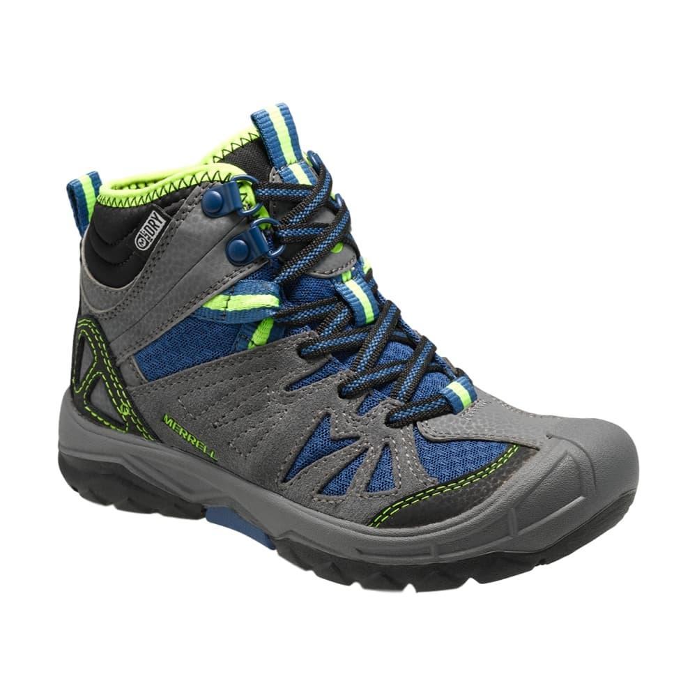 Merrell Big Kids Capra Mid Waterproof Boots GREYBLUE
