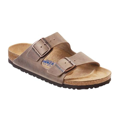 Birkenstock Men's Oiled Leather Soft Footbed Arizona Sandals