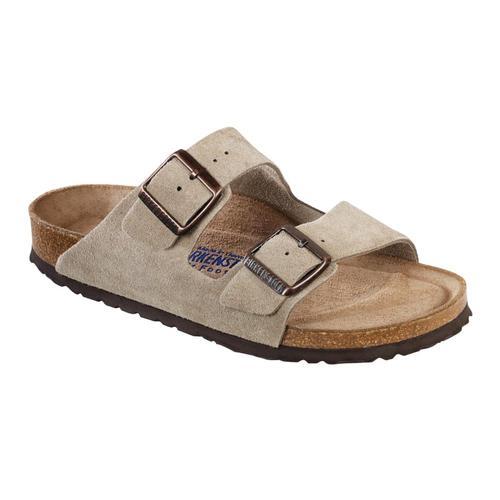 Birkenstock Men's Arizona Soft Footbed Suede Sandals Taupesd