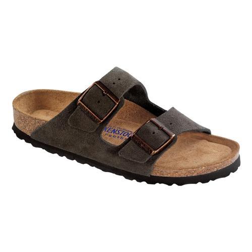 Birkenstock Men's Arizona Soft Footbed Suede Sandals Mochasd