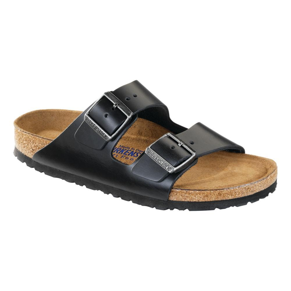 Birkenstock Men's Arizona Soft Footbed Oiled Leather Sandals BLACK
