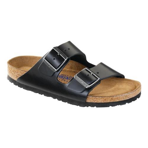 Birkenstock Men's Arizona Soft Footbed Oiled Leather Sandals Black