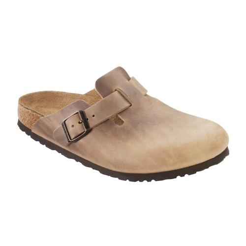 Birkenstock Men's Boston Oiled Leather Clogs Tobacco