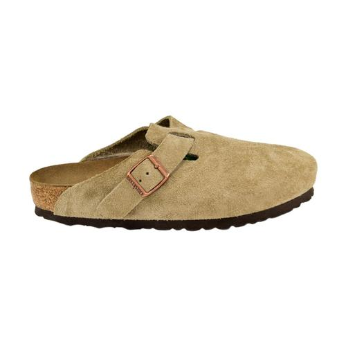 Birkenstock Women's Boston Soft Footbed Suede Leather Clogs Taupesd