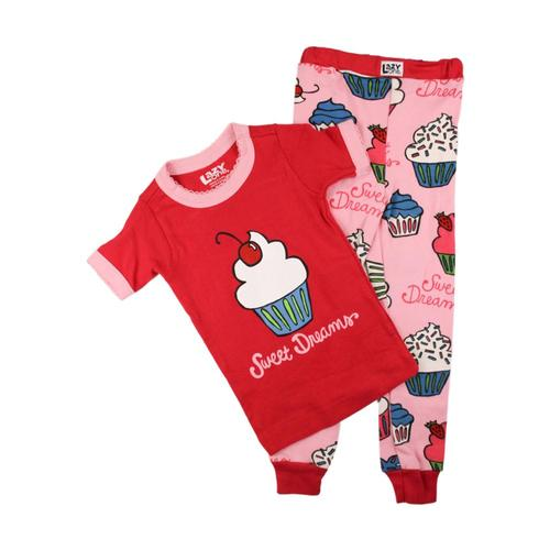 Lazy One Kids Sweet Dreams Short Sleeve PJ Set