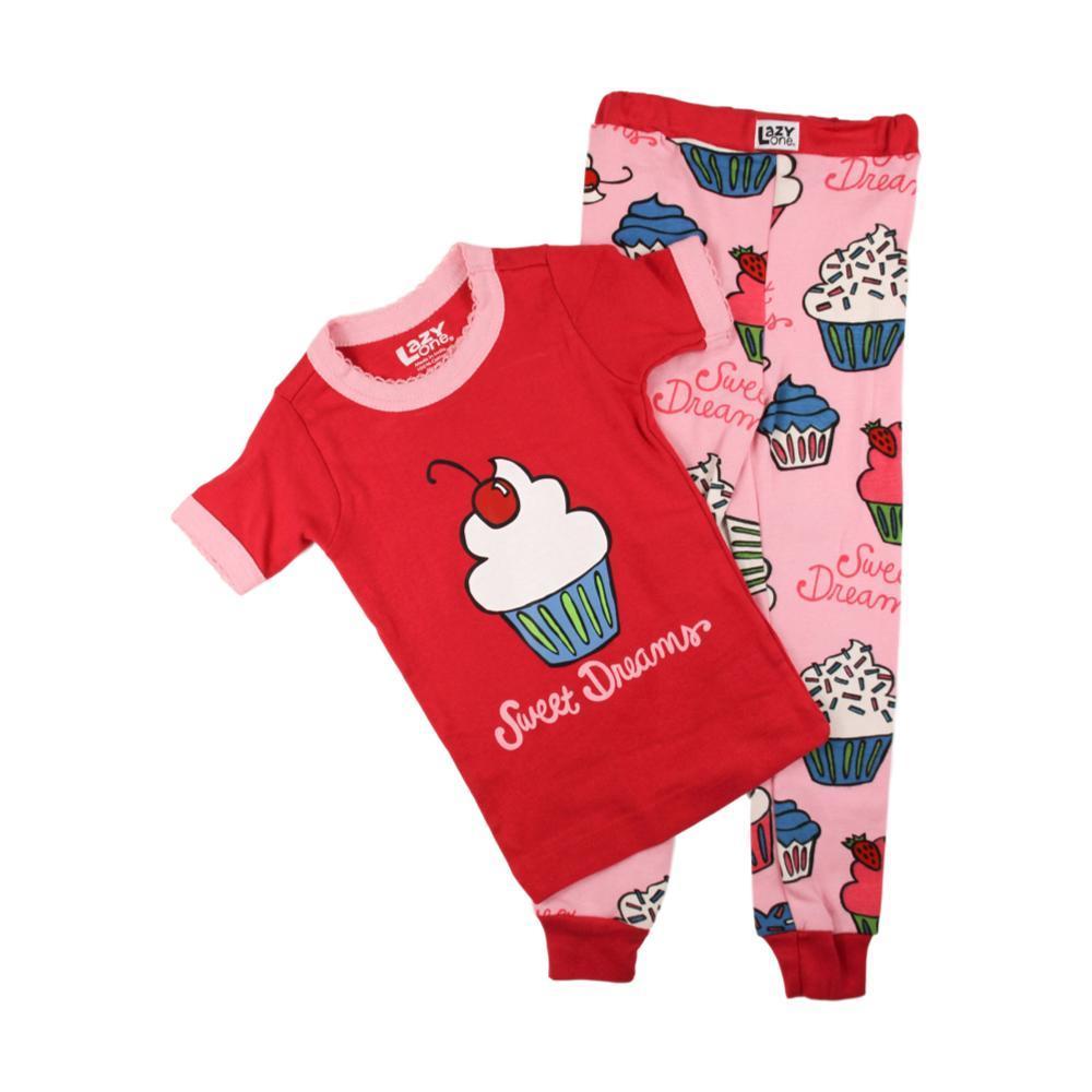 Lazy One Kids Sweet Dreams Short Sleeve PJ Set PINK