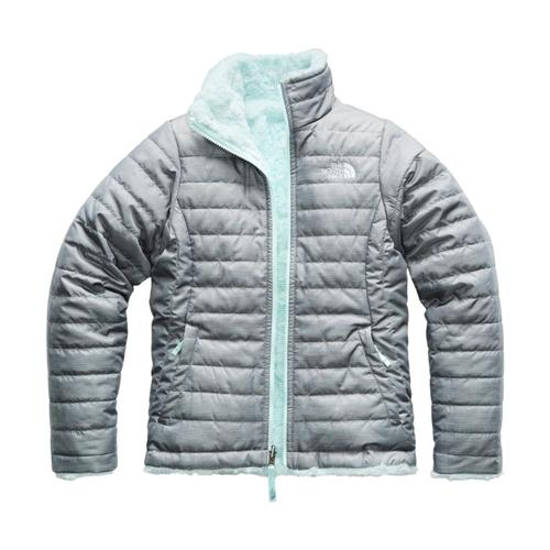 The North Face Girls Reversible Mossbud Swirl Jacket Greyheath_dyy