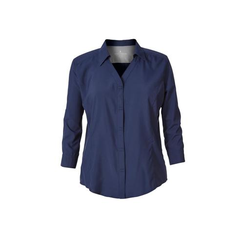 Royal Robbins Women's Expedition Chill 3/4-Sleeve Shirt Deepblue