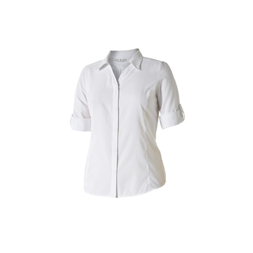 Royal Robbins Women's Expedition Chill 3/4-Sleeve Shirt WHITE