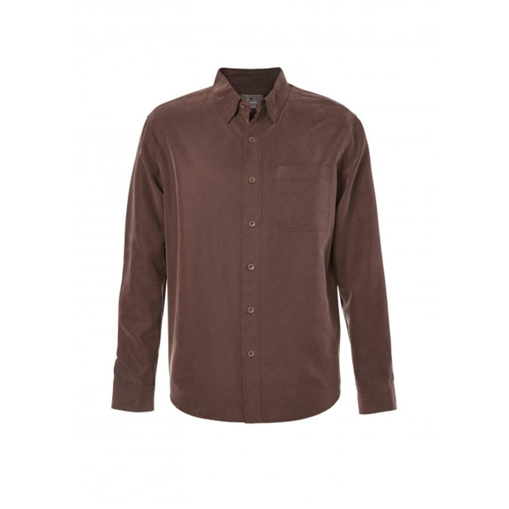 Royal Robbins Men's Desert Pucker Long Sleeve Shirt DKCHESTNUT