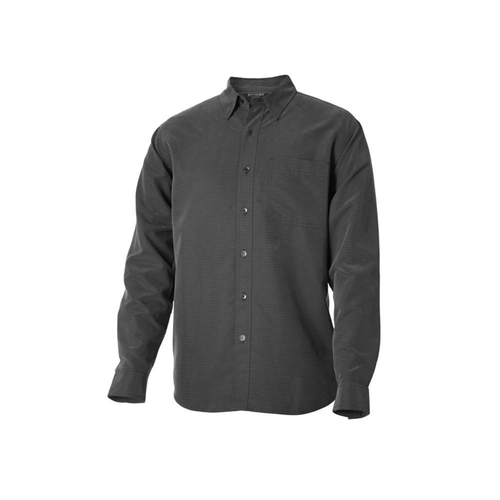 Royal Robbins Men's Desert Pucker Long Sleeve Shirt OBSIDIAN