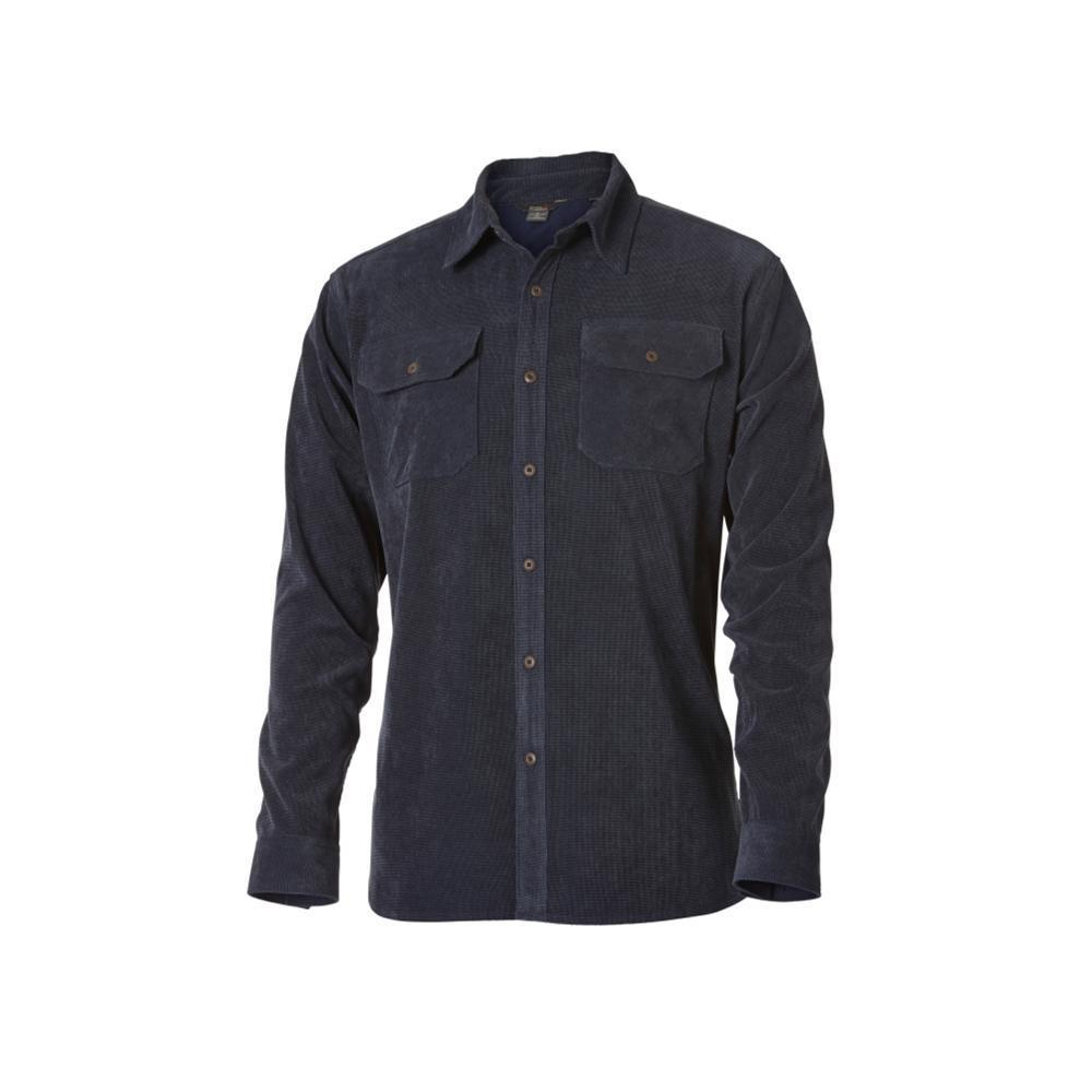 Royal Robbins Men's Grid Cord Long Sleeve Shirt DPBLUE
