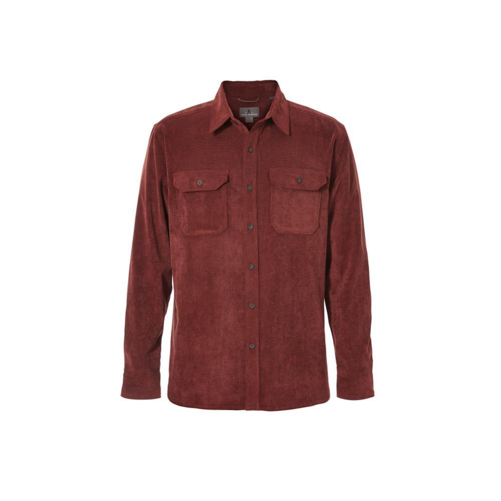 Royal Robbins Men's Grid Cord Long Sleeve Shirt REDROCK