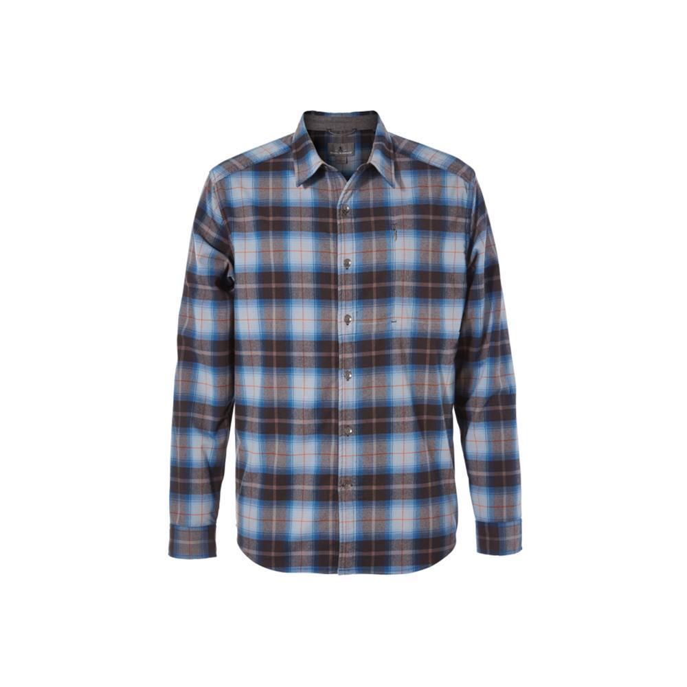 Royal Robbins Men's Merinolux Flannel Long Sleeve Shirt NAVY