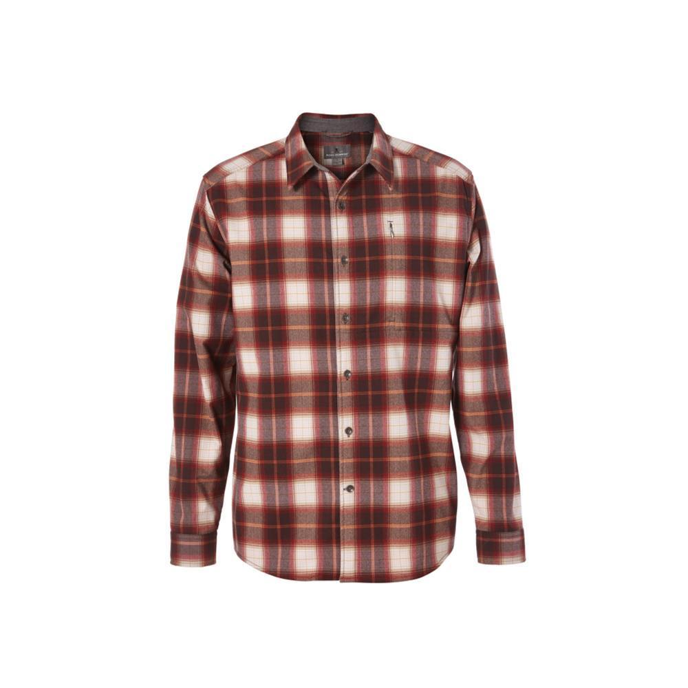 Royal Robbins Men's Merinolux Flannel Long Sleeve Shirt REDROCK