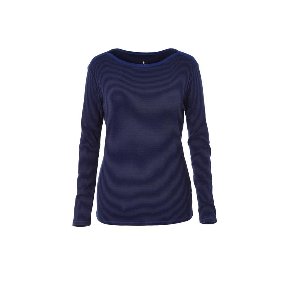Royal Robbins Women's Kick Back Striped Boatneck Shirt BLUEDEPTH